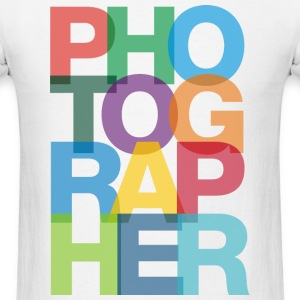 Colorful Photographer Tshirt - Men's T-Shirt