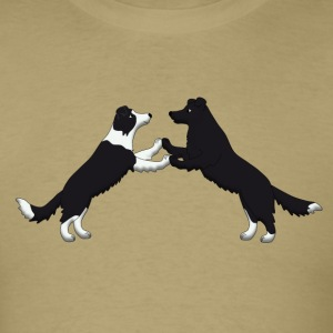 dancing border collie T-Shirts - Men's T-Shirt