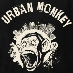 Urban Monkey (positive), DD, yellow Kids' Shirts - Kids' T-Shirt