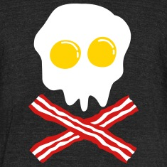 bacon & egg skull T-Shirts