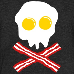 bacon & egg skull T-Shirts - Unisex Tri-Blend T-Shirt by American Apparel
