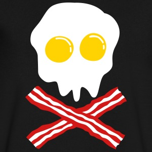 bacon & egg skull T-Shirts - Men's V-Neck T-Shirt by Canvas