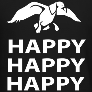 happy happy happy Long Sleeve Shirts - Crewneck Sweatshirt
