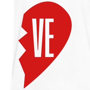 ve - love right side T-Shirts - Men's V-Neck T-Shirt by Canvas