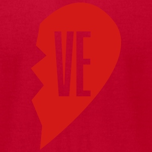 ve - love right side T-Shirts - Men's T-Shirt by American Apparel