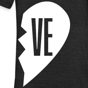 ve - love right side T-Shirts - Unisex Tri-Blend T-Shirt by American Apparel