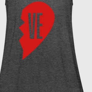 ve - love right side Tanks - Women's Flowy Tank Top by Bella