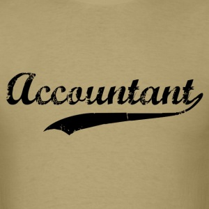 Accountant Swoosh T-Shirts - Men's T-Shirt