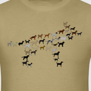 many dogs = one dog T-Shirts - Men's T-Shirt