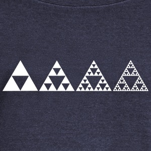 Sierpinski triangles - fractal Long Sleeve Shirts - Women's Wideneck Sweatshirt