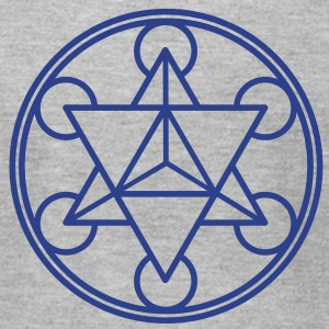 Metatron`s Cube - Merkaba - Star Tetrahedron - c / T-Shirts - Men's T-Shirt by American Apparel