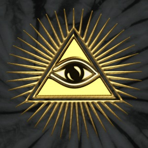 Pyramid & All-Seeing Eye - Symbol of Omniscience T-Shirts - Unisex Tie Dye T-Shirt