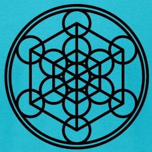 Metatron`s Cube - Hypercube - Sacred Geometry  / T-Shirts - Men's T-Shirt by American Apparel