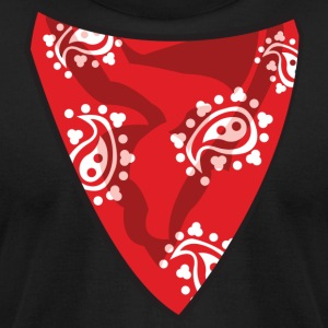 Red Bandana T-Shirts - Men's T-Shirt by American Apparel