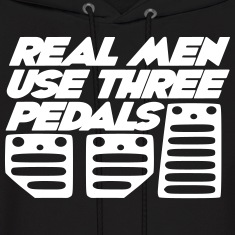 real men use 3 pedals Hoodies