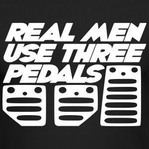 real men use 3 pedals Long Sleeve Shirts - Men's Long Sleeve T-Shirt by Next Level