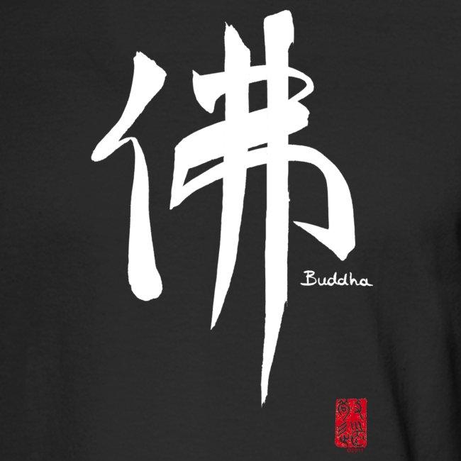 "Men's ""White Buddha"" Long Sleeve T-shirt"