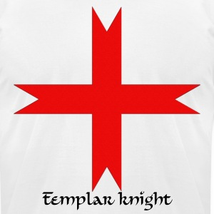 Cross of the Knights Templar - Men's T-Shirt by American Apparel