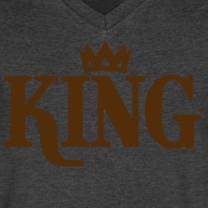 KING WARRIOR T-Shirts - Men's V-Neck T-Shirt by Canvas