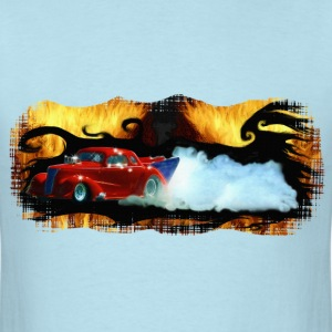 Red Doorslammer Dragracing Car - Men's T-Shirt