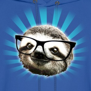Cute! Hipster Sloth - Men's Hoodie