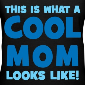 What A Cool Mom Looks Like Women's T-Shirts - Women's V-Neck T-Shirt