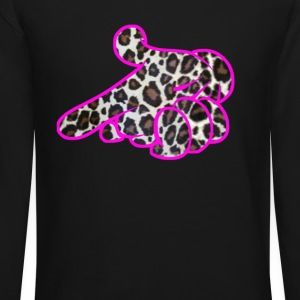 air gun pink outline Long Sleeve Shirts - Crewneck Sweatshirt