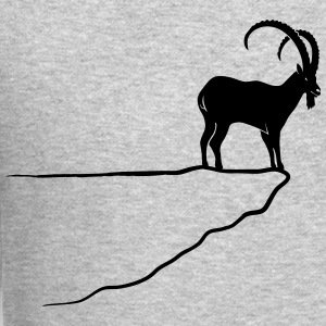 ibex capricorn mountain goat sheep rock climbing Long Sleeve Shirts - Crewneck Sweatshirt