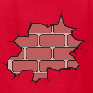 Broken Brick Wall Kids' Shirts - Kids' T-Shirt