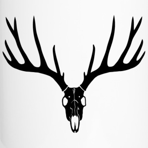 deer skull hunter hunting buck cervine antler stag Bottles & Mugs - Travel Mug