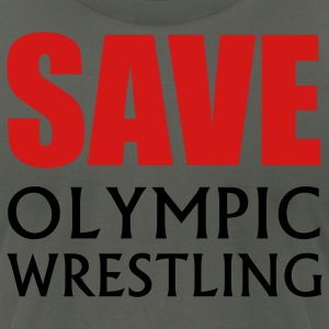 Save Olympic Wrestling - Men's T-Shirt by American Apparel