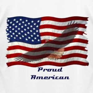 Eagle & US Flag Patriotic 3 - Men's T-Shirt by American Apparel