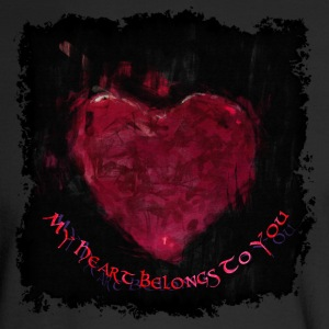 My Heart Grunge-style Valentine - Men's Long Sleeve T-Shirt