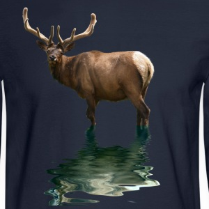 Bull Elk Wildlife Design - Men's Long Sleeve T-Shirt