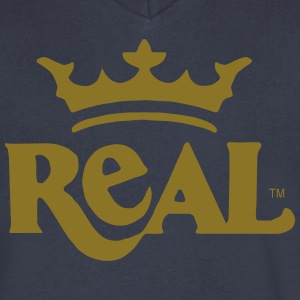REAL KING T-Shirts - Men's V-Neck T-Shirt by Canvas
