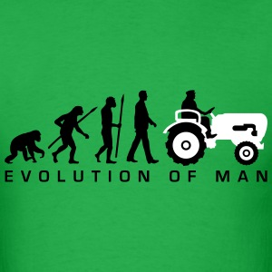 evolution_bauer_mit_treaktor_032013_a_2c T-Shirts - Men's T-Shirt