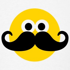 Smiley Mustache T-Shirts