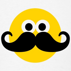 Smiley Mustache T-Shirts - Men's T-Shirt