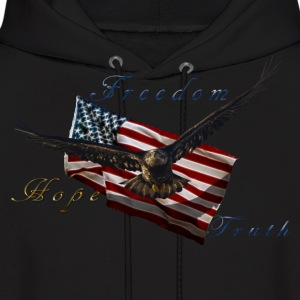 American Pride Bald Eagle & Flag Hoodies - Men's Hoodie
