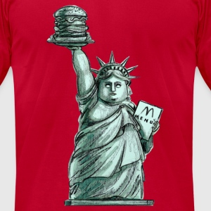 Supersize Liberty T-Shirts - Men's T-Shirt by American Apparel