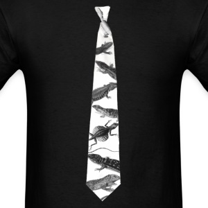 Lizard Dawkins' Necktie by Tai's Tees - Men's T-Shirt