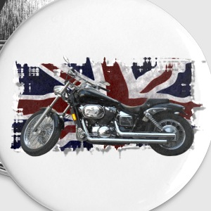 Union Jack Flag & Motorbike - Large Buttons