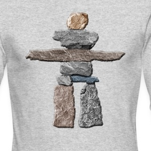 Native American Inukshuk  Long Sleeve Shirts - Men's Long Sleeve T-Shirt by Next Level
