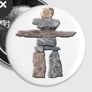 Native American Inukshuk  Buttons - Small Buttons