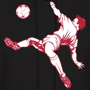 soccer ball kicker Hoodies - Men's Hoodie