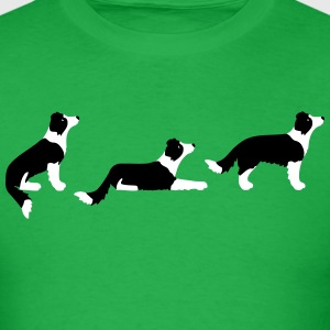 sit down stay border collie T-Shirts - Men's T-Shirt