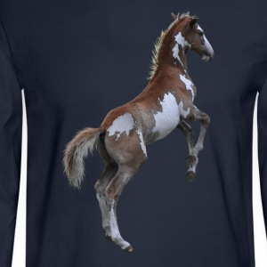 Rearing Pinto Pony, Horse Long Sleeve Shirts - Men's Long Sleeve T-Shirt