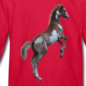 Rearing Pinto Pony, Horse Kids' Shirts - Kids' Long Sleeve T-Shirt