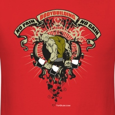 Bodybuilding - No Pain 001 T-Shirts