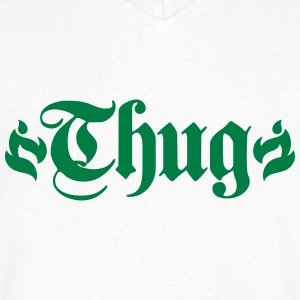 thug T-Shirts - Men's V-Neck T-Shirt by Canvas